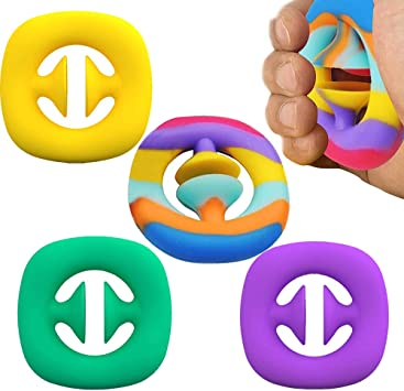 Rotatable Stress Relief Toy Squeeze Grab Snap Sensory Toy 5 Pack ...