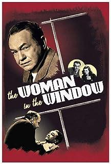 Kvinnan fönstret retro film sovrum dekor sport landskap kontor rum dekor present oram: 60 × 90 cm (24 × 36 tum)