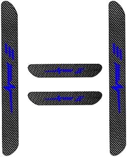 para A3 A4 A5 A6 A8 S4 S5 S6 Q3 Q5 Q7 Decoración Pegatina para Estribos,Protección de Pedal de umbral,Faldones Laterales Fibra de Carbono,Evitar el Desgaste 4Piezas Azul