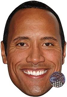 Dwayne 'The Rock' Johnson (Smile) Celebrity Mask, Card Face and Fancy Dress Mask