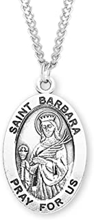 Sterling Silver Oval Patron Saint Medal