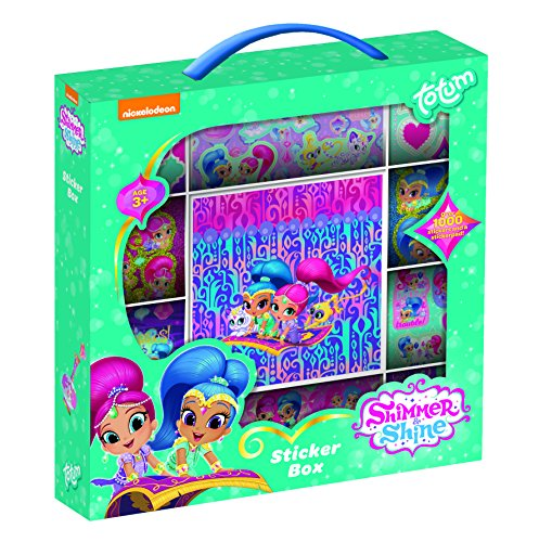 Totum Essentials 850118 Shimmer & Shine Stickerbox and, Bunt