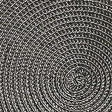 Westmark Tischsets/Platzsets, 4 Stück, Ø 38 cm, Polypropylen, Anthrazit, Saleen Edition: Circle - 3