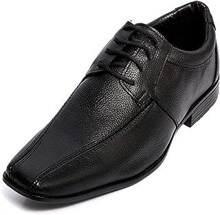 Sapato Social Masculino Cadarço Bico Fino em Couro Selten 42, Preto
