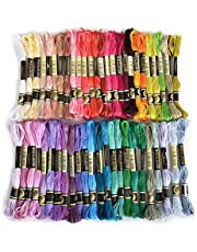 Embroidery Thread, Pure Cotton, 50pcs Assorted Coloured Skeins, Crank out Bracelets what you want
