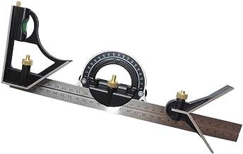 Hemobllo 180 Grad Edelstahl Winkelmesser//Gradmesser Stahl Winkel Lineal Doppelarm 250 MM Silber