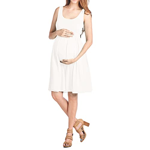 Beachcoco Womens Maternity Knee Length Tank Dress Made in USA