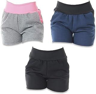 Kit com 3 Shorts de Moletim Click Feminino