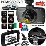 MINI VIDEOCAMERA DVR REGISTRATORE PER AUTO HD LCD 2,7' 1080P SD DASH CAM INTERNA manuale in italiano