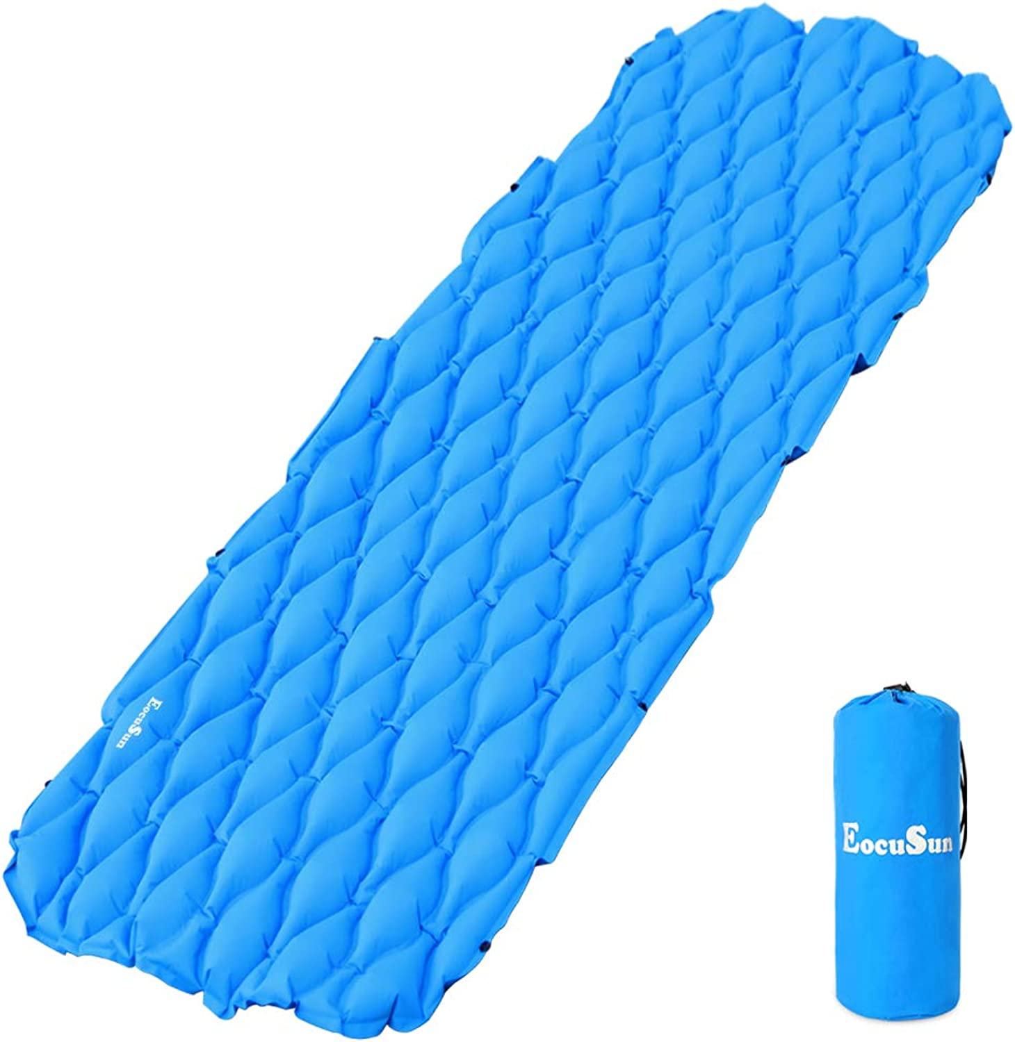 EocuSun Sleeping Pad InflatableLightweight Ultralight Compact Comfy Waterproof Air MattressCamping MaFor Camp,Backpacking,Hiking,Scouts,Travel