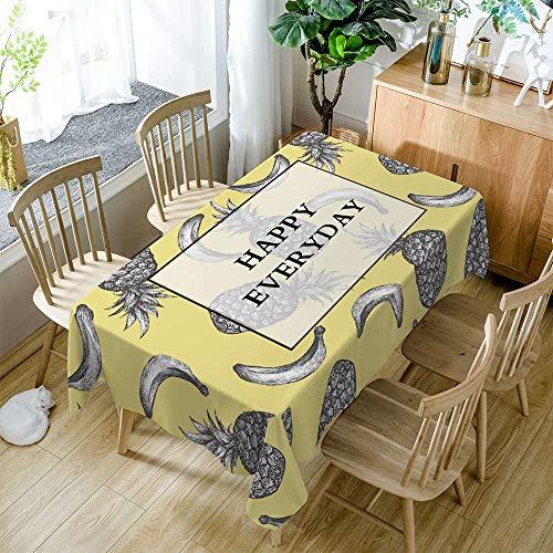 XXDD Mantel Simple de Dibujos Animados patrón de Huella de Piedra Mantel de Restaurante Mantel Lavable Cubierta de Mesa A12 140x140cm