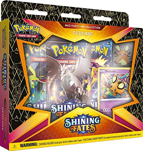 Haumax Pokémon Shining Fates Pin Collection Box English Pre Order Vorbestellung SWSH 4.5 - Dedenne