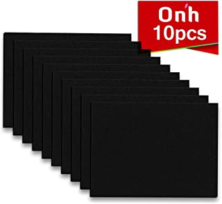 "Furniture Pads - 10 Pack ON'H Self-Stick Felt Furniture Pads with 3M Tapes Hardwood Floors Protectors – 8"" x 6"" x 1/5"" Sheet Cut into Any Shape – Black"