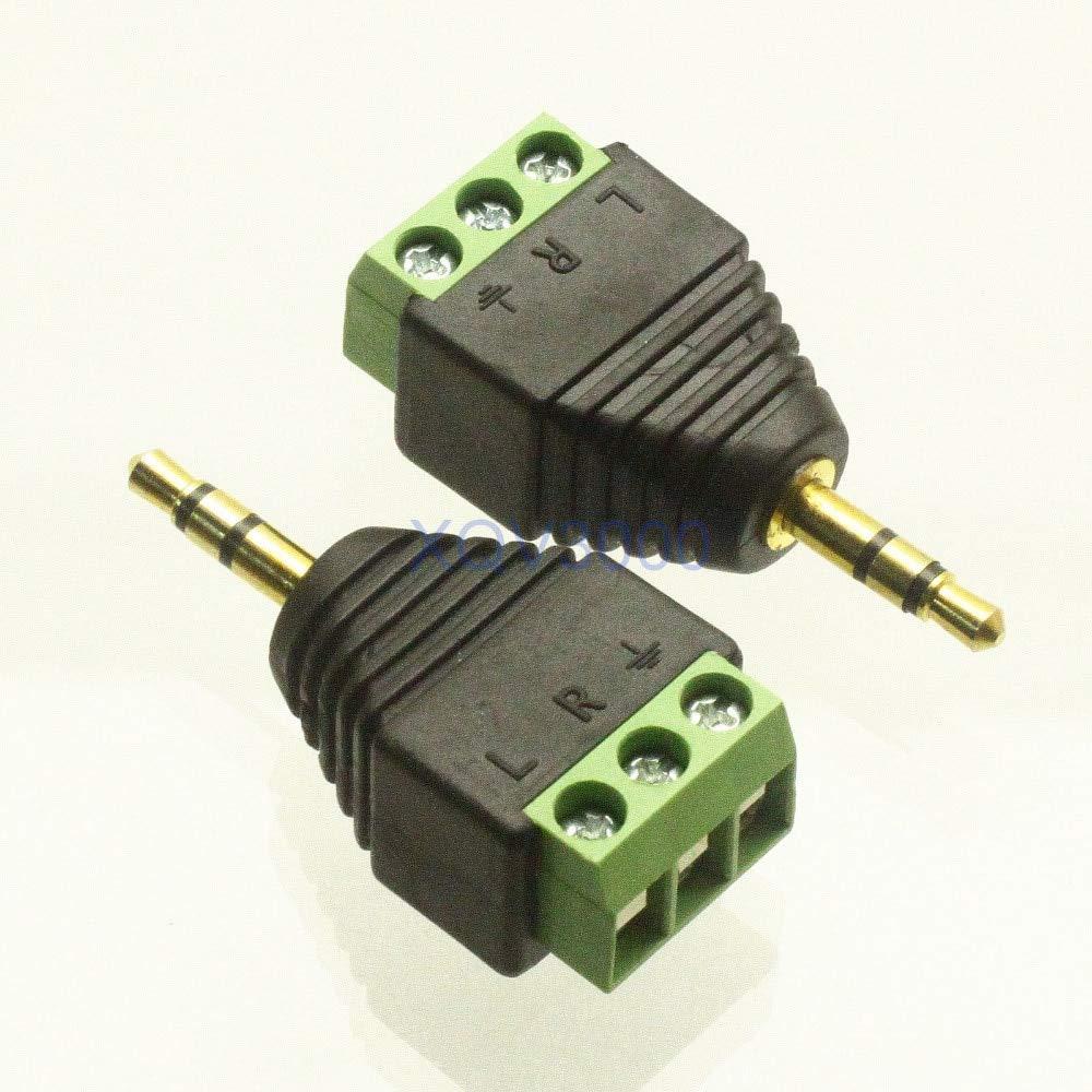 Gimax 2 adaptadores convertidores 3,5 mm macho enchufe estéreo TRS AV tornillo Video Balum Terminal: Amazon.es: Bricolaje y herramientas