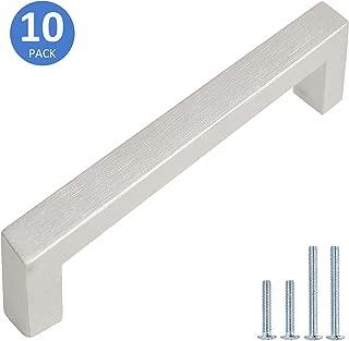 10 Pack Square Bar Brushed Nickel Finish Pulls 3-3/4