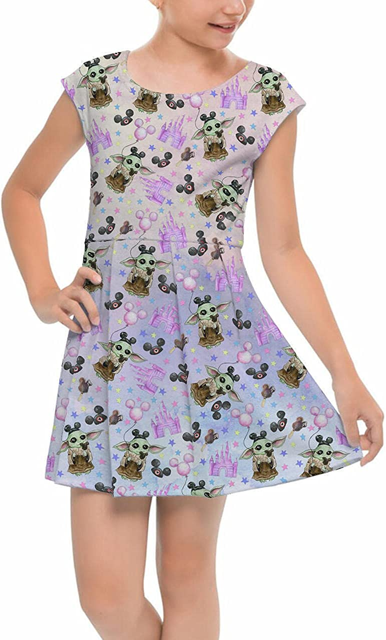 Girls Daily bargain sale Cap Sleeve Pleated Quantity limited Dress - The Ins Asset SW Goes Disney to