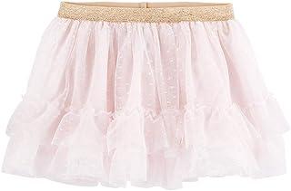 OshKosh B'Gosh Baby Girl Ruffled Tulle Skirt Size 9-12M Pink/Gold
