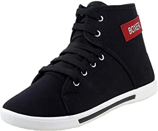 Zenwear Boy/Kids Black Canvas Sports Shoes for Kids