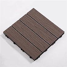 Composiet terrastegels, Tuin composiet terrastegels gerecycled materiaal, in elkaar grijpende vloerplanken bestrating tege...