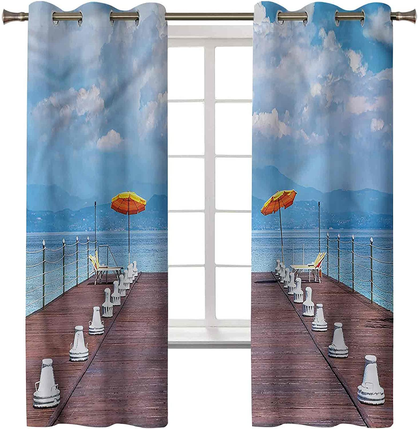 Fees free!! Discount mail order Blackout Window Curtain Thermal Insulated Home Seascape S Decor