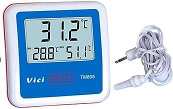Range Instrumento de medición ectrónico unportable portátil Termómetro TM805 Refrigerador/congelador Termómetro Pantalla Digital LCD Hospital de Laboratorio Termómetro con sonda de Sensor