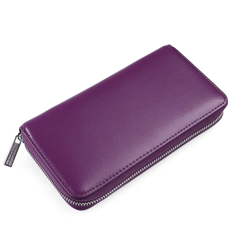 Yogwoo クレジットカード財布 牛革 RFID 財布 男性 女性 ユニセックス 大容量 スーパーカードスロット