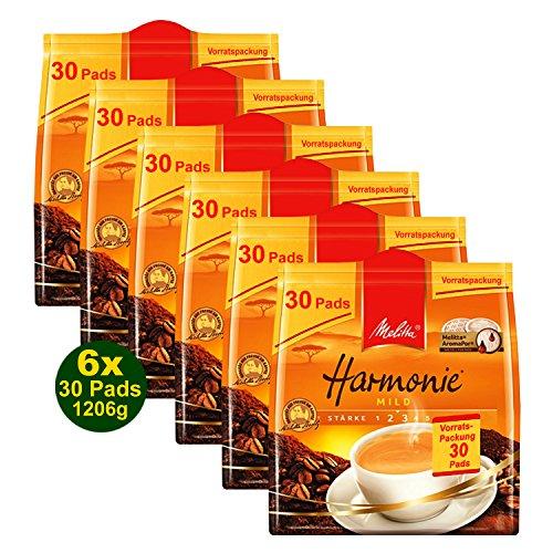 Melitta Harmonie MILD 6x 30 Pads á 201g (1206g) - Röstkaffee (Vorratspackung)