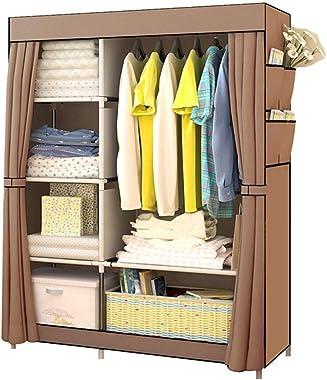 Shefure Bedroom Multipurpose Non-Woven Cloth Wardrobe Folding Portable Clothing Storage Cabinet Dustproof Cloth Closet Home F