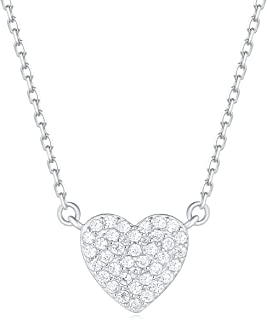 micro pave cubic zirconia necklace