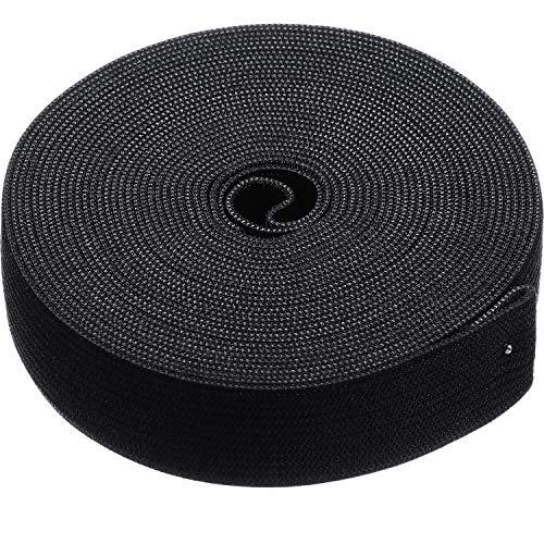 Elastic Spool (0.75 Inch x 5 Yard, Black)