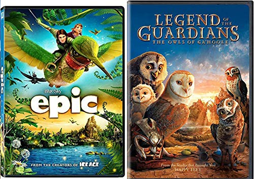 Magical World Birds Bugs Slugs Epic & Legend of the Guardians The Owls of Ga'Hoole DVD Cartoons from the creators of Ice Age & Happy Feet Movie Animated Fantasy Set Double Feature