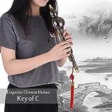 Hermoso alambre de metal para dibujar hulusi chino, calabaza de calabaza, flauta étnica de viento, instrumento musical clave de C
