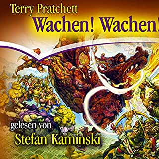 Wachen! Wachen!     Ein Scheibenwelt-Roman              Autor:                                                                                                                                 Terry Pratchett                               Sprecher:                                                                                                                                 Stefan Kaminski                      Spieldauer: 7 Std. und 52 Min.     8 Bewertungen     Gesamt 4,6