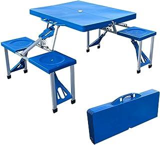 アウトドアテーブル 4人用 テーブル・チェア一体型 ピクニックテーブル 折りたたみテーブル 軽量 レジャーテーブル アウトドア キャンプ バーベキュー
