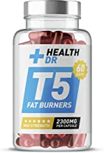 Health Dr – Max Strength T5 Fat Burners 2300MG Per Capsule – Extreme Fat Burning Weight Loss Workout Training Pre-Workout Enhancers – Speed Metabolism and Curb Hunger – 60 Capsules