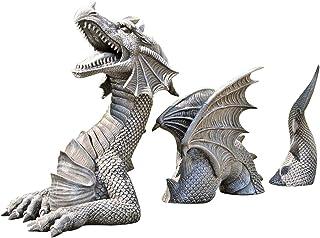 Phonleya Esculturas góticas de resina de dragón, figuras de animales, estatuas de animales, figuras de jardín, figuras dec...