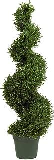 Nearly Natural 5170 Rosemary Spiral Silk Tree, 4-Feet, Green