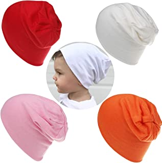 c1464225cd6 Baby Beanie Hat Cotton Skull Caps Cool Knit Slouchy Hat for Toddlers Kids  6-60