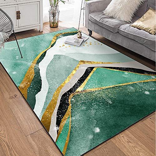 WQ-BBB Alfombras Decorativa Rug Resumen de Oro Verde Gris Negro Colorido Alfombra habitación Super Lujoso higroscópico Salón La Alfombrae 80X160cm