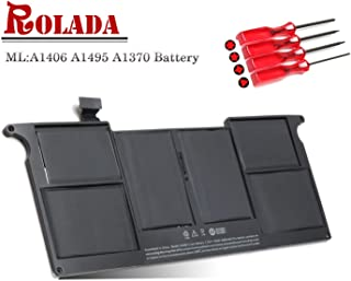 A1495 A1406 Laptop Battery Replacement for MacBook Air 11'' A1465 A1370 (Mid 2011 2012 2013 Early 2014 2015 Version) MC968 MD223 MC506LL MD711 MC965LL 020-7376-A 020-7377-A