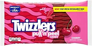 Twizzlers Pull 'n' Peel Candy - Cherry 14 oz. (Pack of 2)