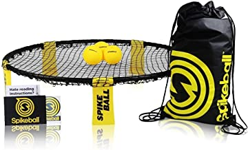 Spikeball 3 Ball Kit - شامل بازی خالص، 3 توپ، کیسه قرعه کشی، کتاب قانون