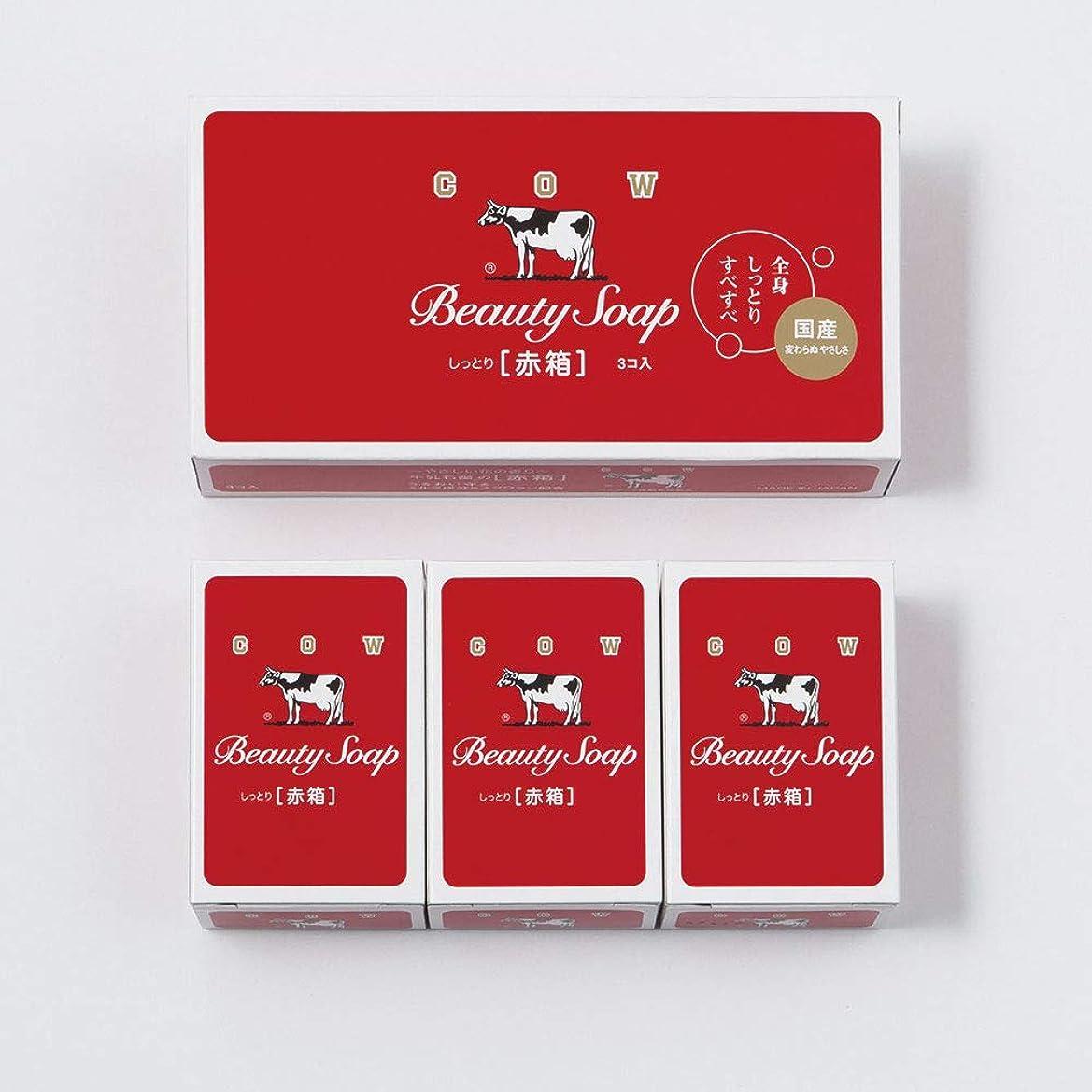 ぴかぴか算術刈り取る石けん 洗剤 入浴剤 牛乳石鹸赤箱(100g)3個入