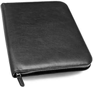 Maruse Personalized Italian Leather Executive Padfolio, Folder Organizer with Zip Closure..