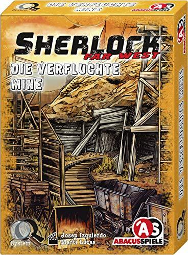 ABACUSSPIELE 48206 - Sherlock Far West - Die verfluchte Mine, Krimi Kartenspiel
