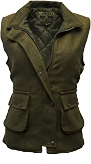 Walker and Hawkes Women's Derby Tweed Shooting Waistcoat Country Gilet