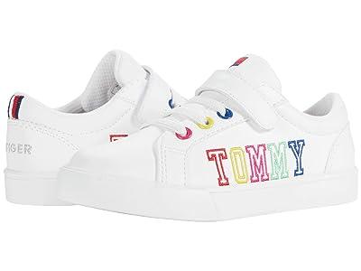 Tommy Hilfiger Kids Arrin (Toddler) (White/Rainbow) Girl