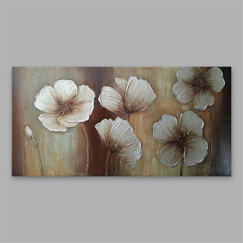 Ölgemälde Hand Malerei Kunst Leinwand Massivholzrahmen Floral Floral Floral Wohnzimmer Schlafzimmer Hintergrund Wand Bereit, 50 × 100 Cm B07D1GH7PV | Ausreichende Versorgung  914cb2