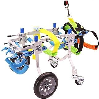 TCTCXQG Kinderwagens, hondenrolstoel Huisdierrolstoel Verstelbare hondenrolstoel XXS-XL maat achterbenen revalidatie voor ...