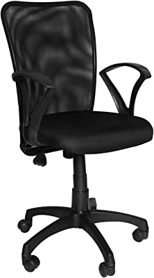 The Chair House - Back Office Mesh Mid-Back Revolving Chair[Black]
